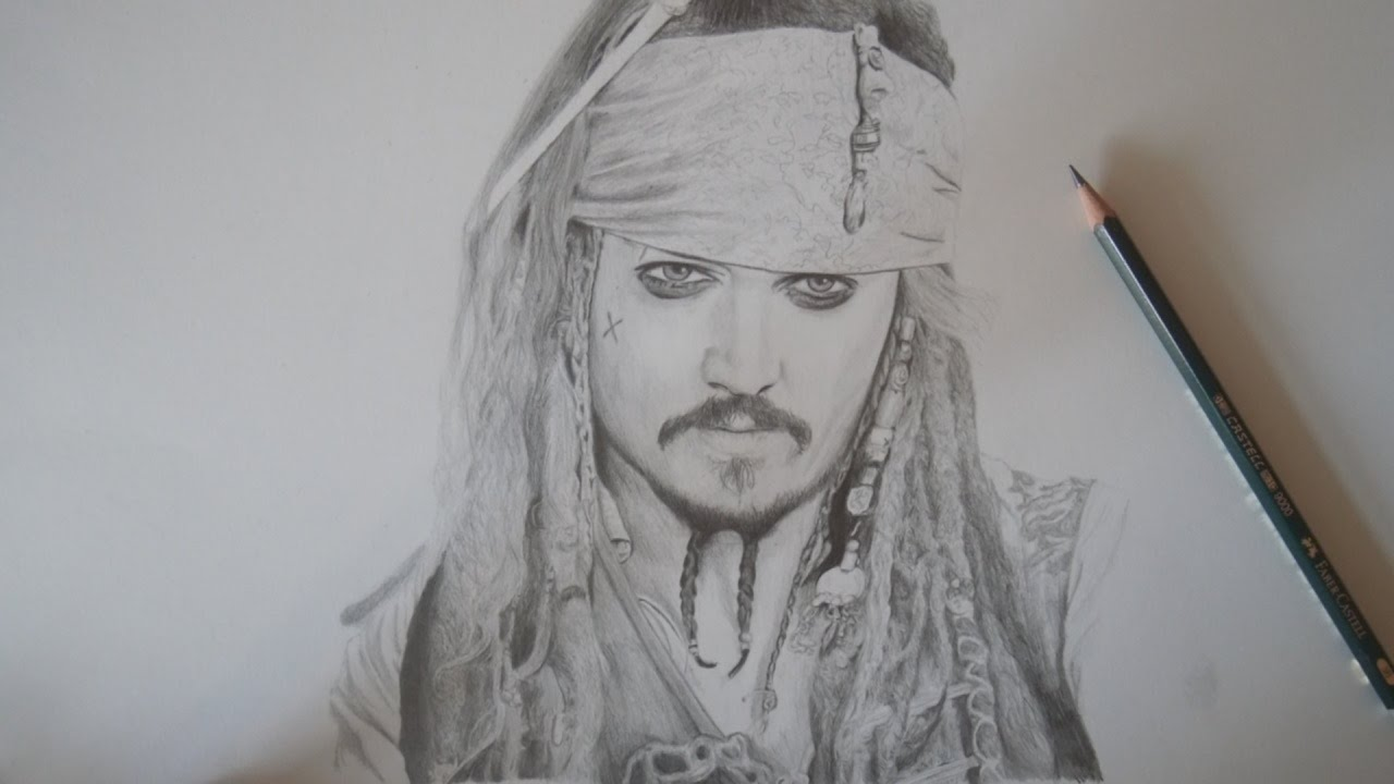 How To Draw Jack Sparrow Drawing Timelapse
