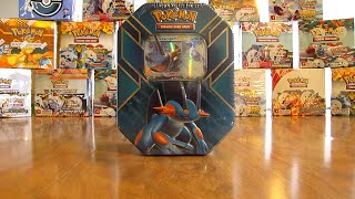 Pokemon Swampert EX Tin Opening