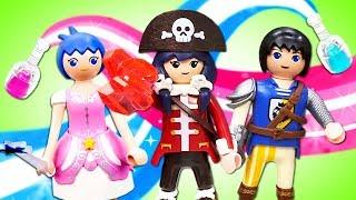 Видео про игрушки Супер 4: Акулья борода подменил воду! Приключения героев и пиратов