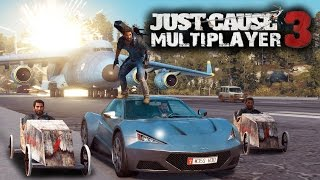 Just Cause 3 Multiplayer - Funny Moments and Playing With Cargo Planes !! ( Just Cause 3 Gameplay )