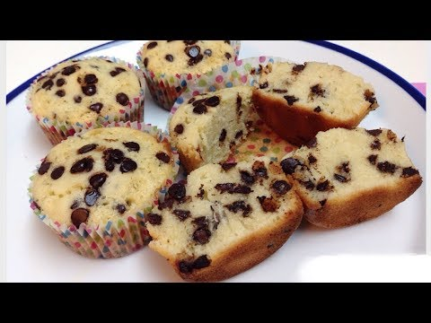 Chocolate Chips Cupcakes Without Oven || Without Baking Powder And Baking  Soda Cupcakes
