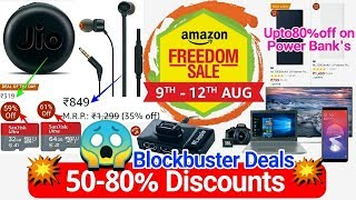 Amazon Freedom Sale 2018, Upto 80% off, Full Shopping Guide..!!!