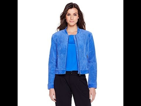 By Giuliana Rancic Perforated Suede Jacket