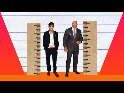 How Much Taller? - Ashton Kutcher vs Dwayne