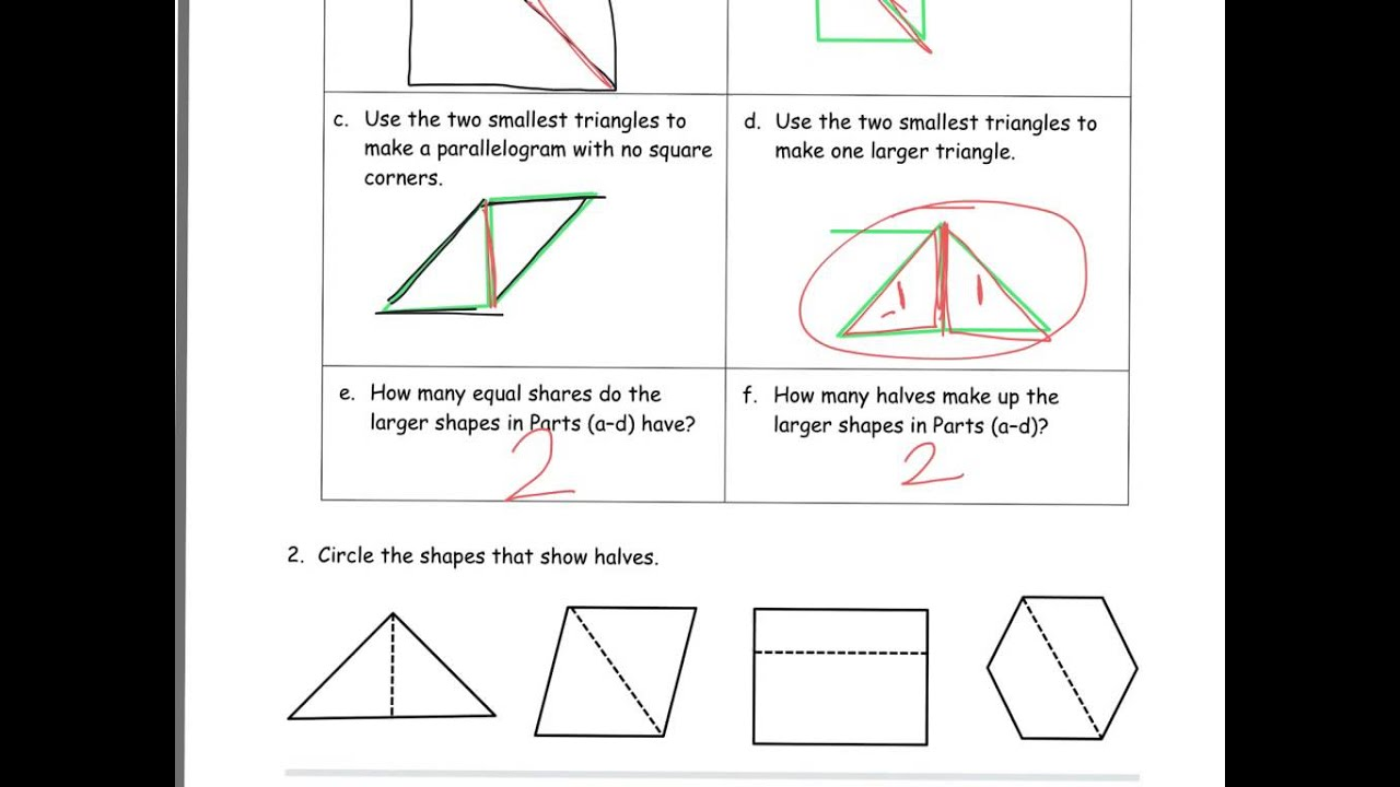 medium resolution of Shapes and Fractions (solutions