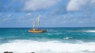 帆船マルマルアトゥア号 クック諸島ラロトンガ島