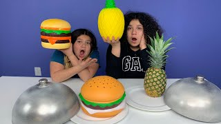 Giant Squishy Food VS Real Food Challenge!! NEW SQUISHIES!!