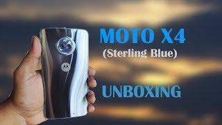 Moto X4 (Sterling Blue) Unboxing