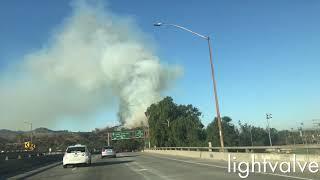 Fire Near Griffith Park Zoo