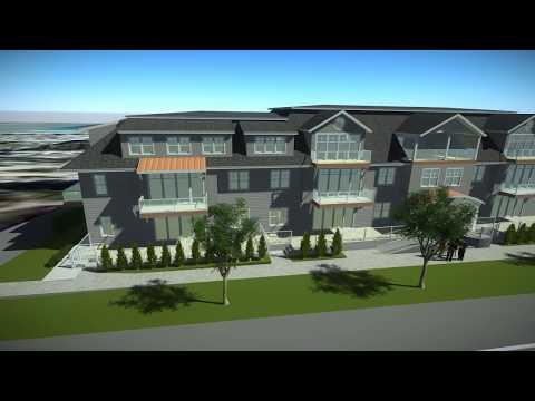 Qualicum Condominium Site Flyover - 4K + HD Rendering | Envision Designs & Developments