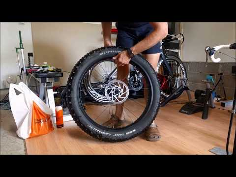 Fatbike Ghetto Tubeless for a non-tubeless wheels with split tube