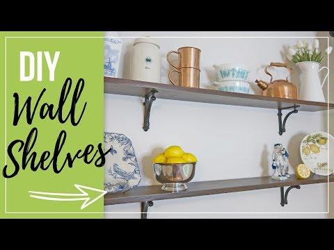 DIY Wall Shelves | How to build wood wall shelves | Easy Budget DIY Farmhouse Home Decor Ideas