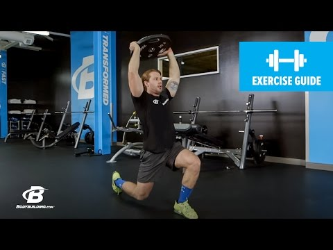 Walking Lunge with Weight Overhead | Exercise Guide