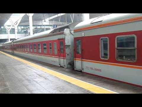 Train K75 Changchun - Ningbo at Tianjin Railway Station