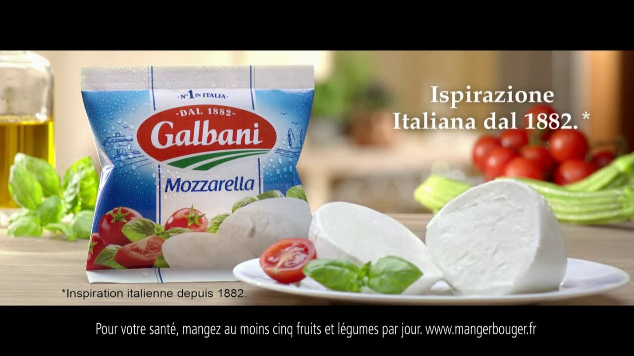 "Musique de la pub Mozzarella Galbani ""inspiration italienne depuis 1882"" Pub 13s 2021"