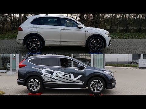 Volkswagen Tiguan 4Motion vs Honda CR-V Real Time AWD - 4x4 test on rollers