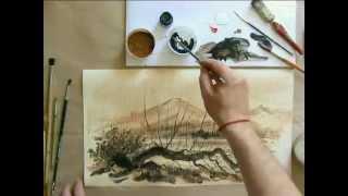 Учимся рисовать на текстурной бумаге(sovetmasterov.ru Придайте своим работам оригинальный вид! Рисуем водными красками на текстурной бумаге. В этом..., 2013-07-04T11:52:57.000Z)