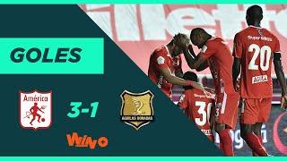 América vs Águilas Doradas (3-1) Liga BetPlay Dimayor 2020   Fecha 11