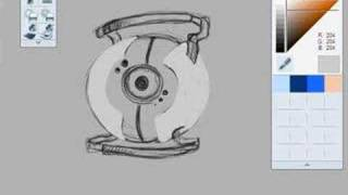 GLaDOS Eye Speed Drawing