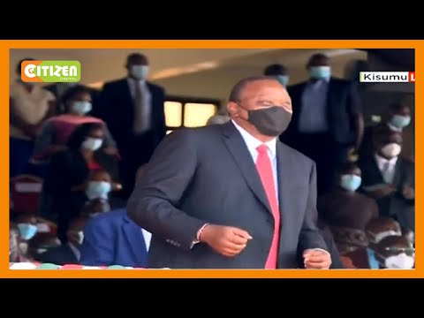 Madaraka Day performing band excites the VIP dais in Kisumu to a dance