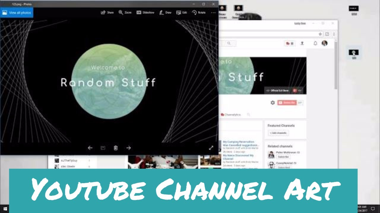 website to make youtube channel art