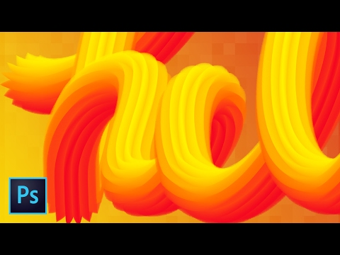 More Advanced 3D Typography Effects PART 2 Photoshop CC (How To Create Awesome Text W/ Mixer Brush)