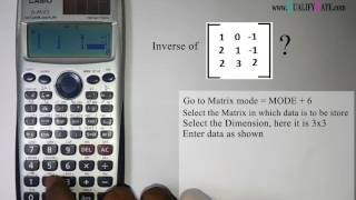 Tips For Calculator In Gate Exam Part 1 Inverse Matrix