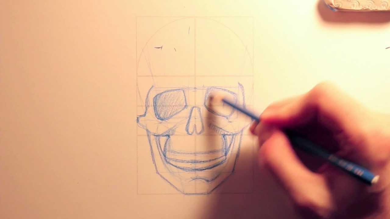 Tutorial disegno lezione 04 anatomia del teschio youtube for Teschi da disegnare