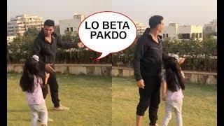 AWW! Akshay Kumar Fly Kites As Daughter Nitara Cutely Helps Him