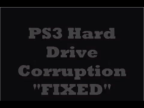 PS3 Harddrive corrupted Repair fix