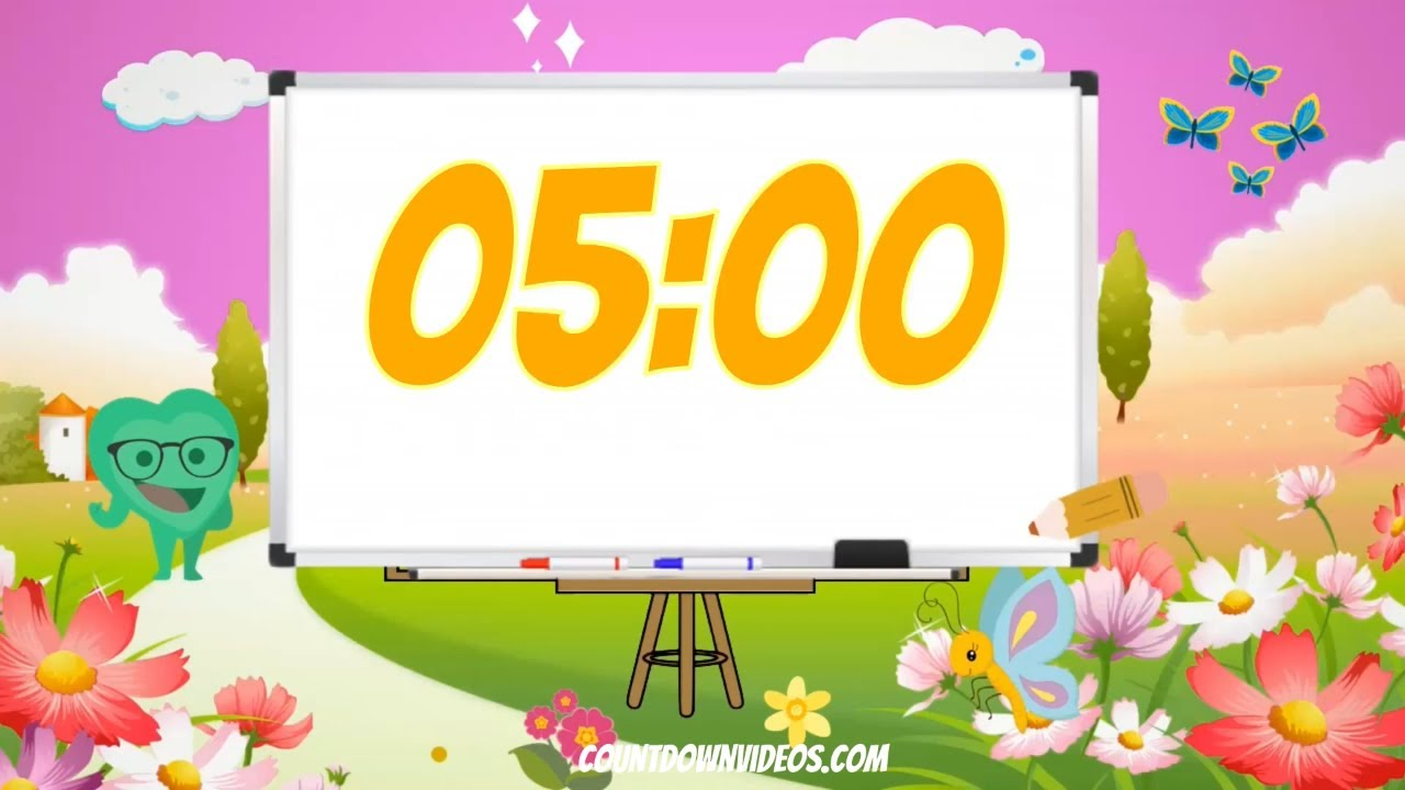 Back To School?5 Minute Classroom Countdown Timer with School Music♫