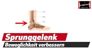 Sprunggelenk mobilisieren - Kniebeugen Technik verbessern