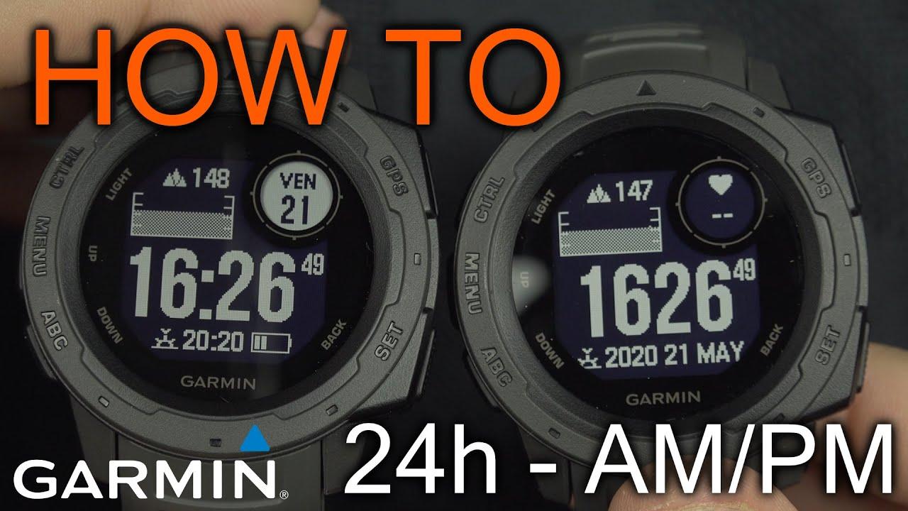 How to Change Garmin Instinct Time Display Mode (AM/PM / 24h)