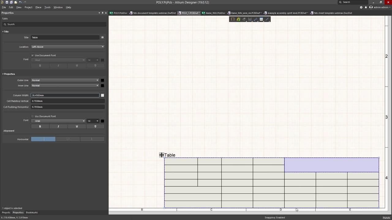 How To Quickly Create a Title Block in Draftsman in Altium Designer
