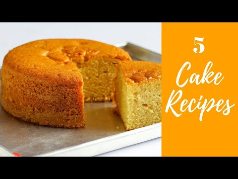 5 Super Cake Recipes In Hindi | Cake Recipes In Pressure Cooker | #Compilation-9