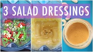 3 Homemade Salad Dressing Recipe  EASY & HEALTHY RECIPES