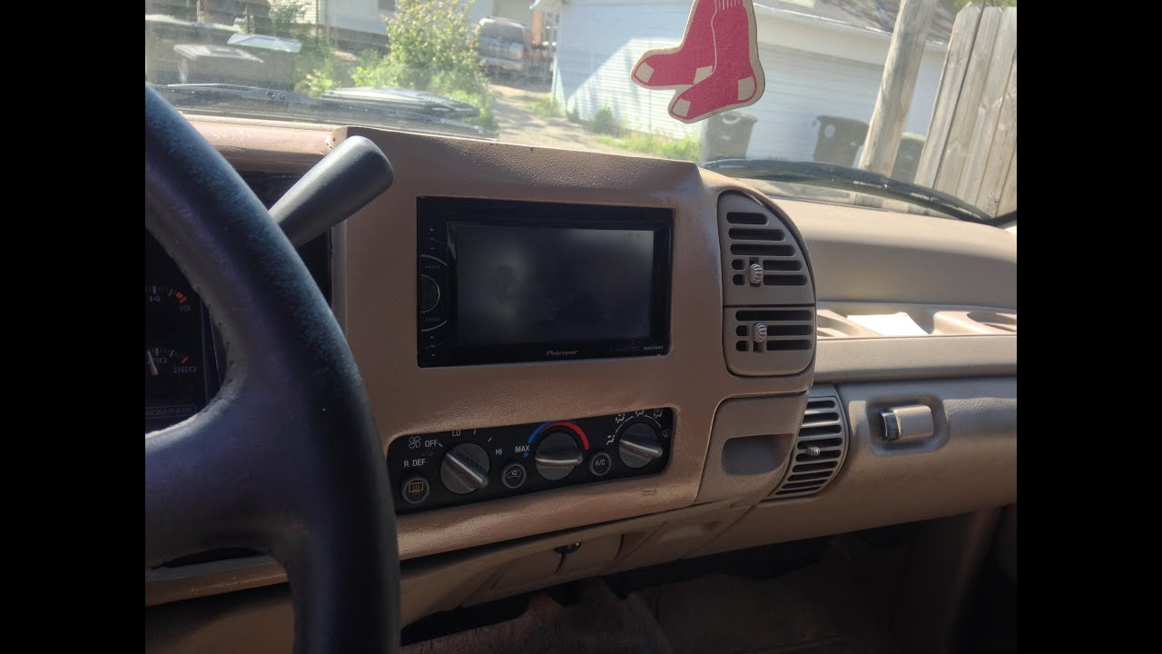 Obs 1996 Tahoe Double Din Install Youtube