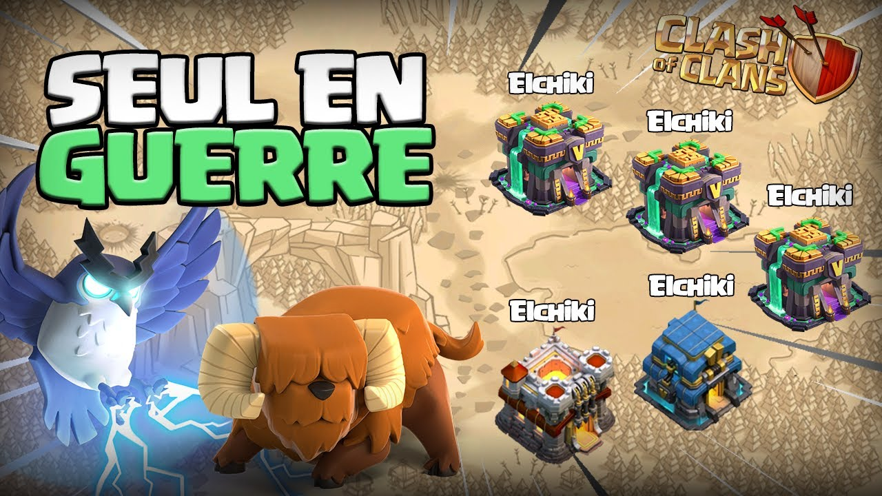 GUERRE 5vs5 AVEC MES COMPTES ! Clash of Clans