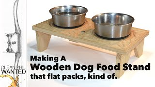 Making a Dog Bowl Stand with Hand Tools
