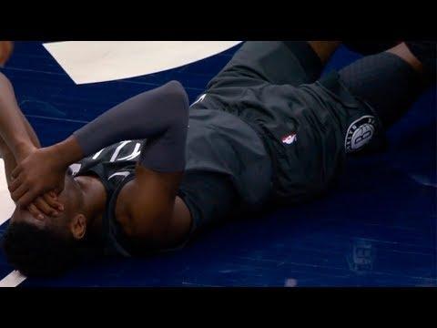 Caris LeVert broke his leg (Scary Injury) | Nets vs Timberwolves