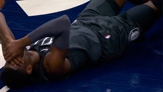 Caris LeVert broke his leg (Scary Injury) | Nets vs Timberwolves