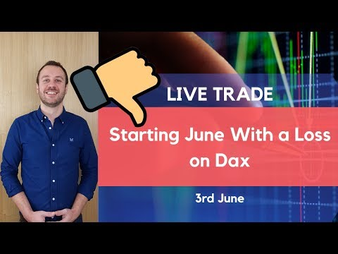 Starting June With a Loss – Live Day Trade Dax 5 Minute Timeframe 3rd June