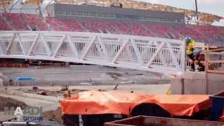 Aluminum Bridge Is Pedestrian Gateway To New Td Place Sports Stadium Complex