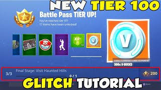 NEW Tier 100 Glitch TUTORIAL - Part 3 challenges (Land at Fatal Fields and Haunted Hills) Fortnite