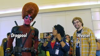 Interview with the fabulous Dragpool and Weasel at Monsterpalooza