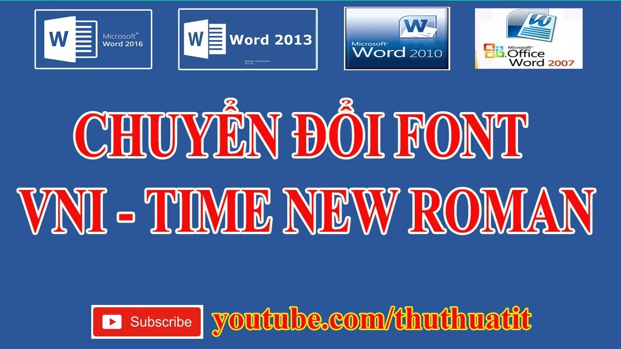 Chuyển Font Vni-Times sang Time New Roman trong Office 2016