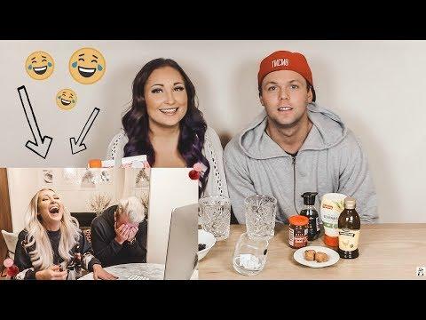 REAGERAR PÅ VÅR FÖRSTA VIDEO (smoothie challenge) omg hahaha