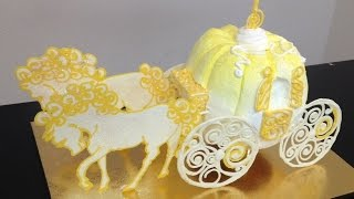 How To Make A Cinderella Carriage DIY Cake Decorating