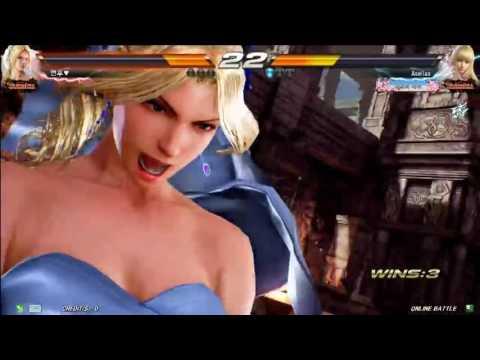 鉄拳 TEKKEN 7 FR | (NINA) vs  (LILI) Korea Online Battle