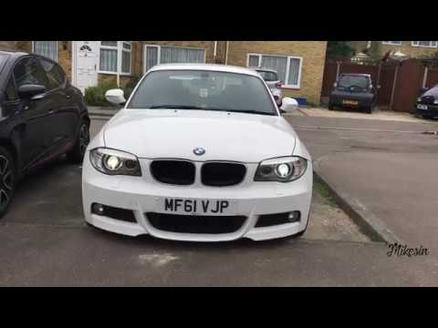 bmw 1 series e82 coupe xenons 80w led lci angel eyes. Black Bedroom Furniture Sets. Home Design Ideas